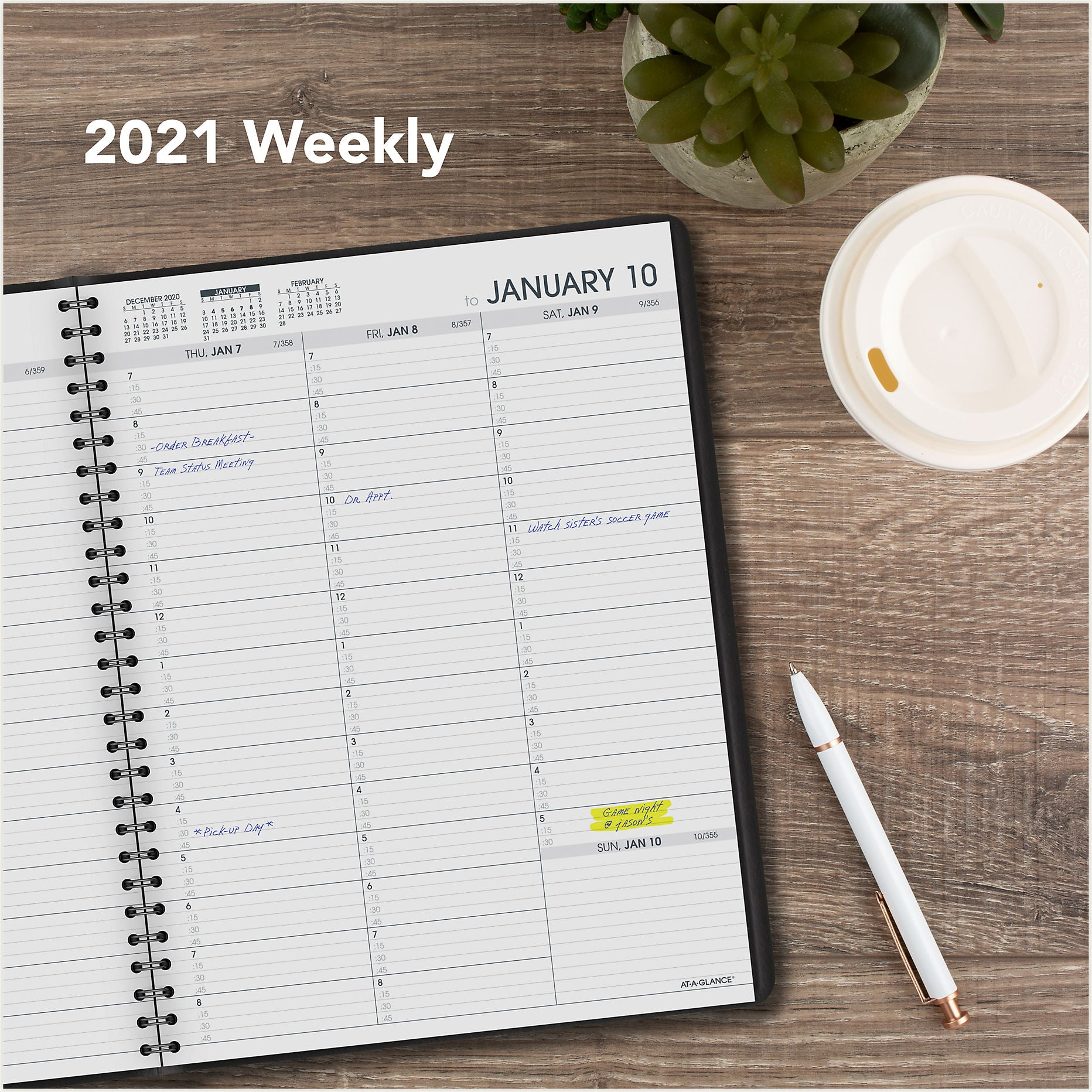 70-950-05 AT A GLANCE CALENDARS 2021