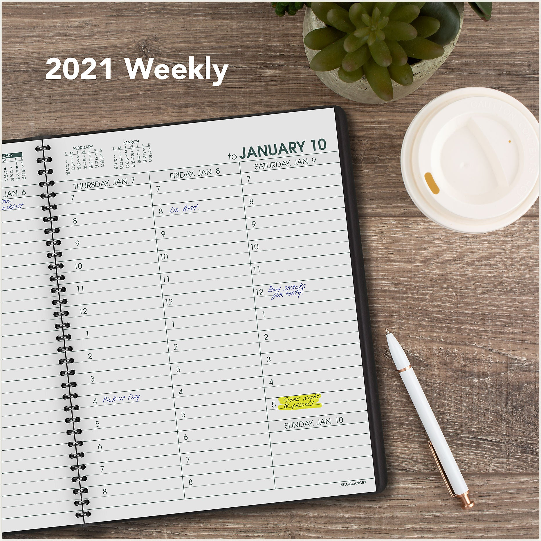 70-LP01-05 LARGE PRINT AT A GLANCE CALENDARS 2021