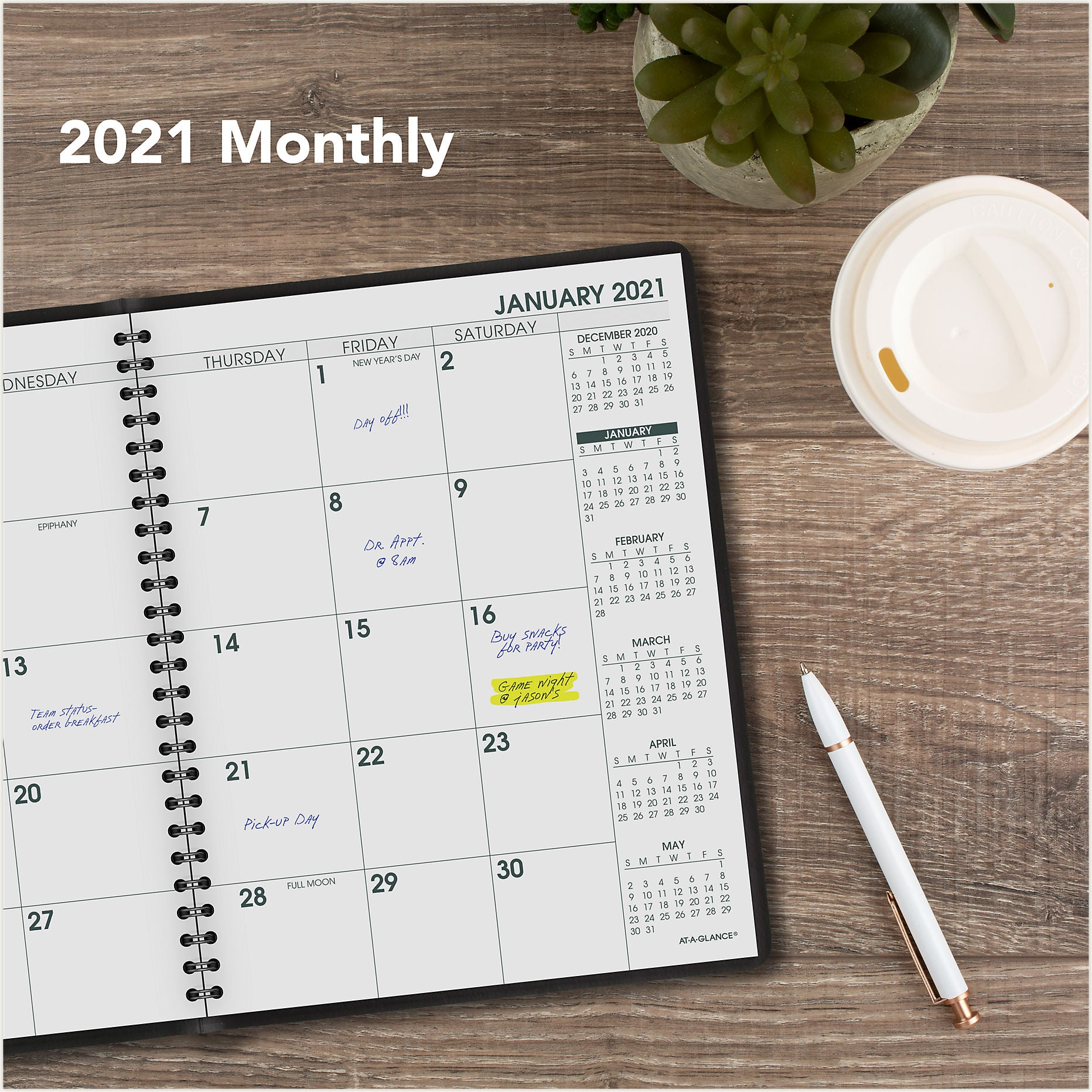 70-LP09-05 LARGE PRINT AT A GLANCE CALENDARS 2021