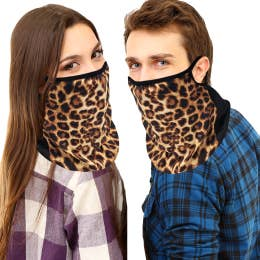 Face Masks Adult Cougar Neck Gaiters Scarf, Bandana Ear Loops(made in USA) non medical