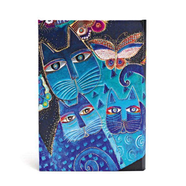 "BLUE CATS & BUTTERFLIES WRAP MIDI JOURNAL by Paperblanks (5"" x 7"" x ¾"")"