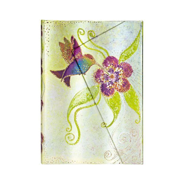"HUMMINGBIRD - WHIMSICAL CREATIONS MIDI WRAP JOURNAL by Paperblanks (5"" x 7"" x ¾"")"
