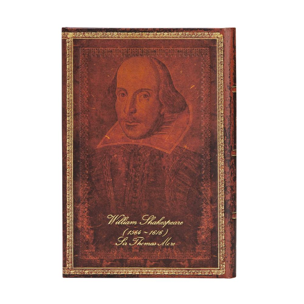 "SHAKESPEARE, SIR THOMAS MORE MINI WRAP JOURNAL by Paperblanks (3¾"" x 5½"" x ¾"")"
