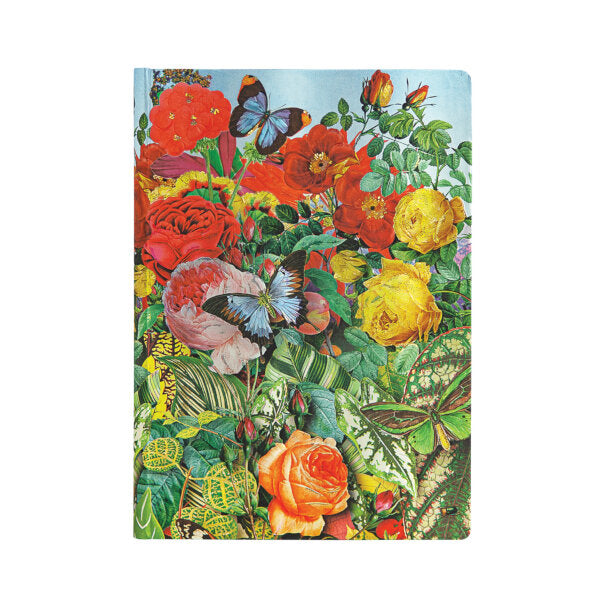 "BUTTERFLY GARDEN MIDI JOURNAL by Paperblanks (5"" x 7"" x ¾"")"