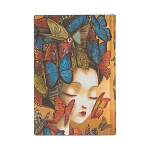 "MADAME BUTTERFLY FLEXIS MINI JOURNAL by Paperblanks (3 3/4"" x 5 1/2"" x 1/2"")"