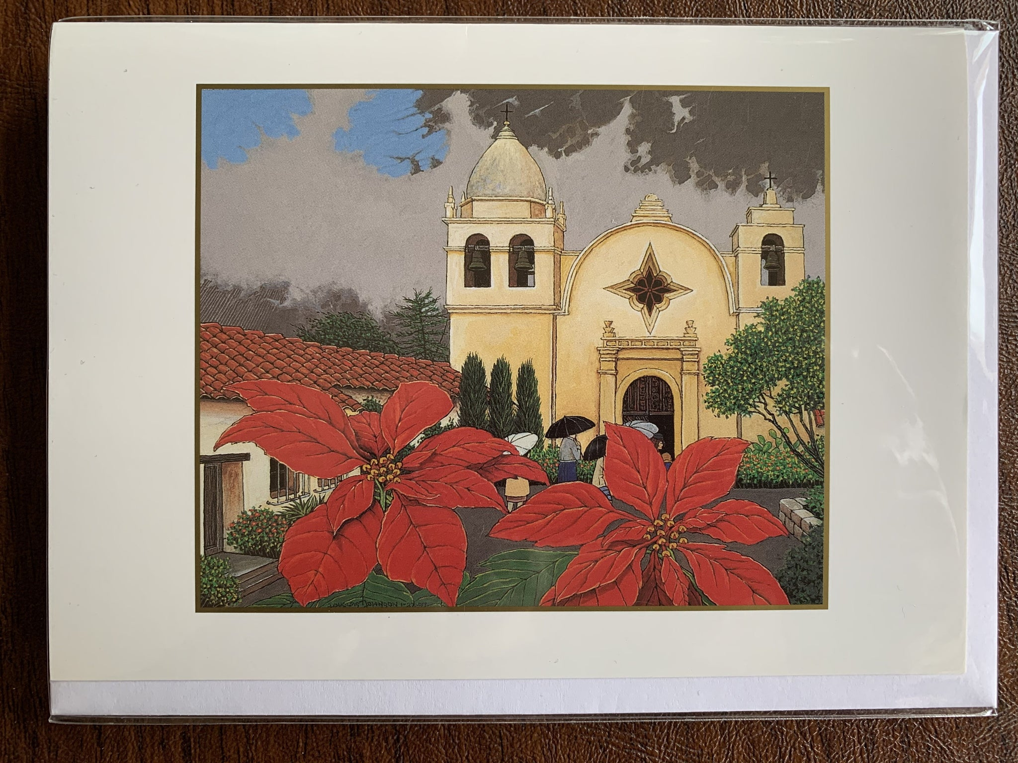 Mission San Carlos Borromeo, 1997 by Douglas Johnson (choose boxed or single cards)