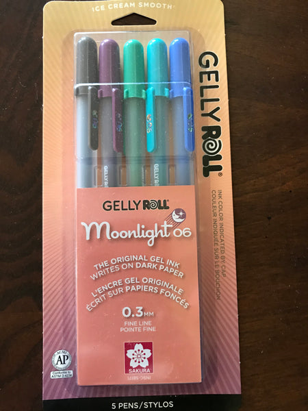 "Sakura Gelly Roll Pens ""Moonlight 06"" 5pack (#58170)"