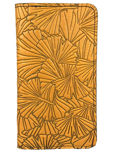 Oberon Checkbook Covers Gingko Marigold