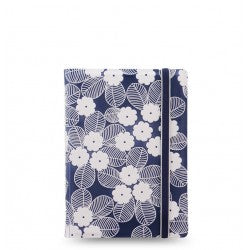 Filofax Notebook Impressions Navy/White POCKET SIZE