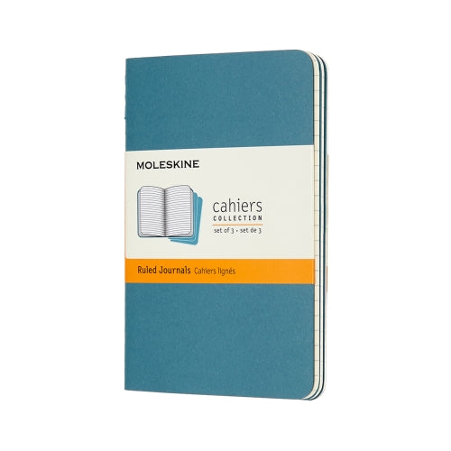 "Moleskine CAHIERS JOURNAL POCKET Size 3.5"" x 5.5"" RULED SOFTcover GRAY ONLY"