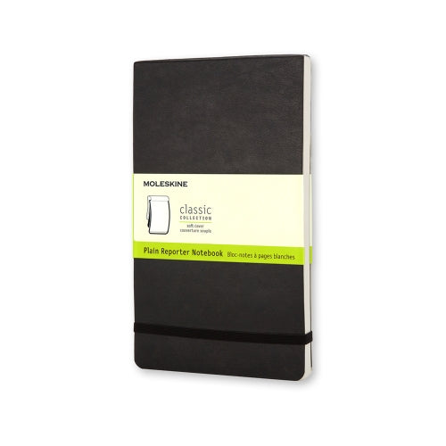 "Moleskine Reporter Notebook POCKET Size 3.5"" x 5.5"" PLAIN SOFTcover BLACK"