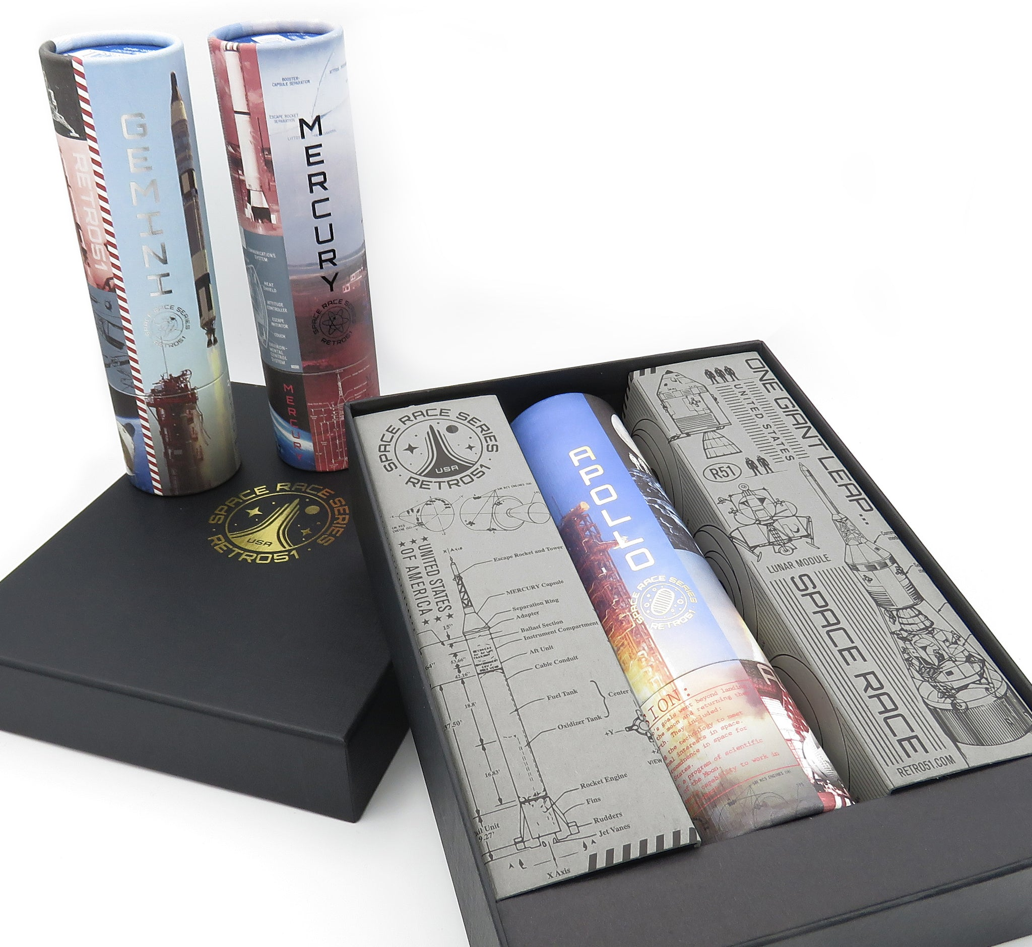 Space Race 3-Pen Box Set Shipping Included in Price (please limit one per customer) PreOrder Late December Ship