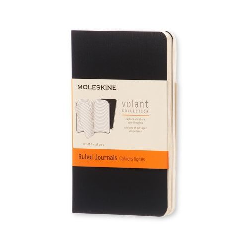 "Moleskine VOLANT JOURNAL X-SMALL  Size 2.5"" x 4.25"" RULED"