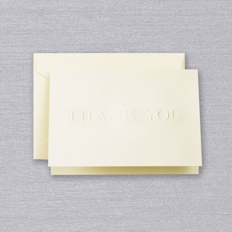 CRANE Blind Embossed Thank You Note
