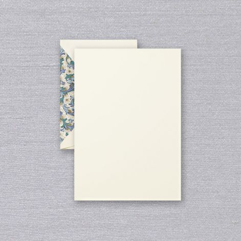 Blue Florentine Half Sheet  20 sheets / 20 lined envelopes by Crane