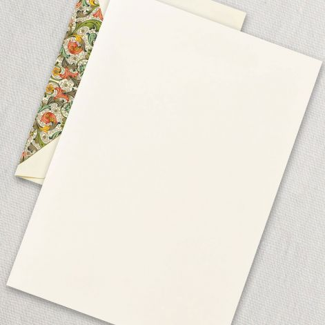 Red Florentine Half Sheet  20 sheets / 20 lined envelopes BY CRANE