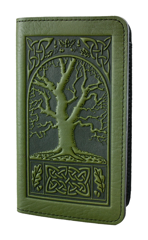 Oberon Checkbook Covers Celtic Oak