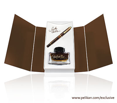 Pelikan Smokey Quartz Fountain Pen & Ink Gift Set (Fine Nib)