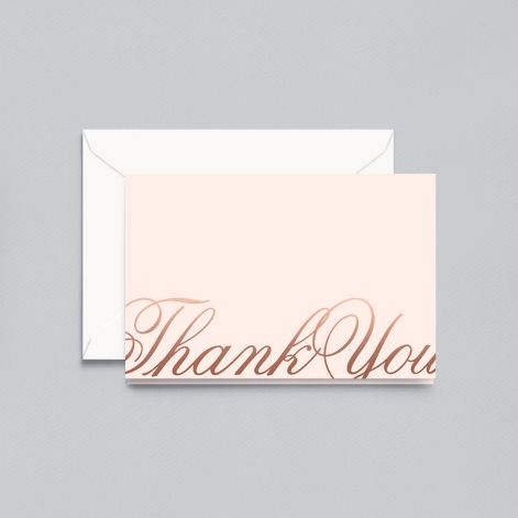 Copper Foil Script Thank You Note