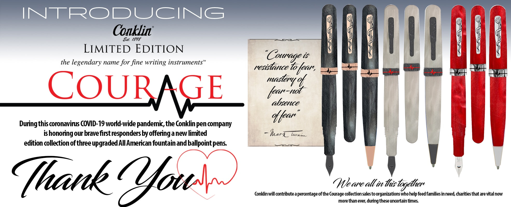 Conklin All American Courage, Graphite Fine Nib, Limited Edition