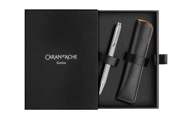 Caran d'Ache Hypnose Ecridor Ballpoint with Leather Case....