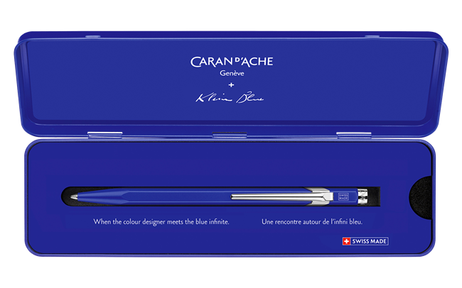 Caran d' Ache 849 KLEIN BLUE® Ballpoint pen with metal case - Limited Edition