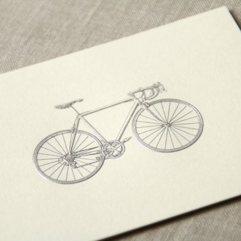 Engraved Racing Bike Note  10 notes / 10 envelopes by Crane