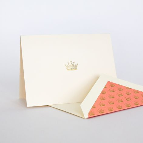 Downton Abbey Crown Note  10 notes / 10 lined envelopes BY CRANE