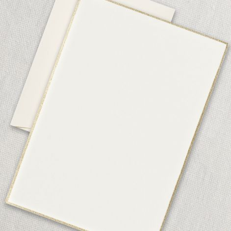 Gold Bordered Half Sheets  20 half sheets / 20 Envelopes by Crane