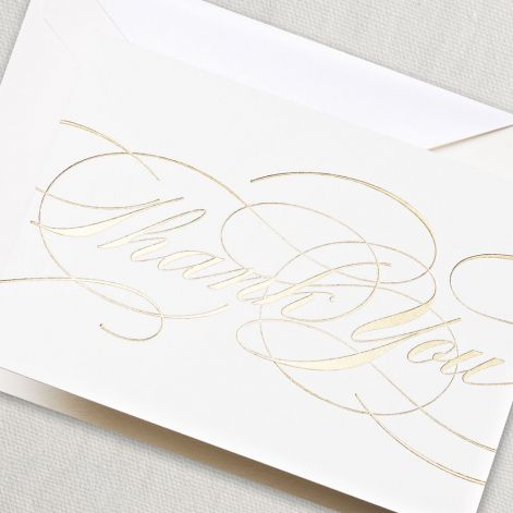 Gold Flourish Thank You Notes by Crane