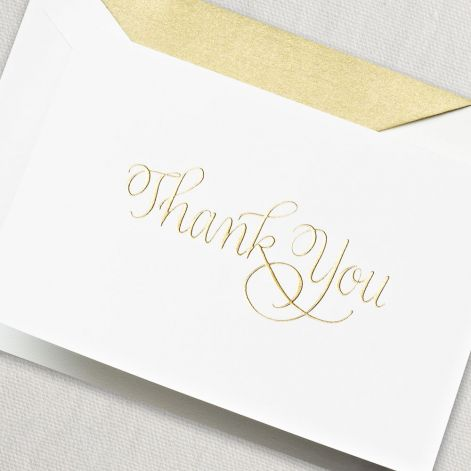 CRANE Engraved Calligraphic Thank You Note