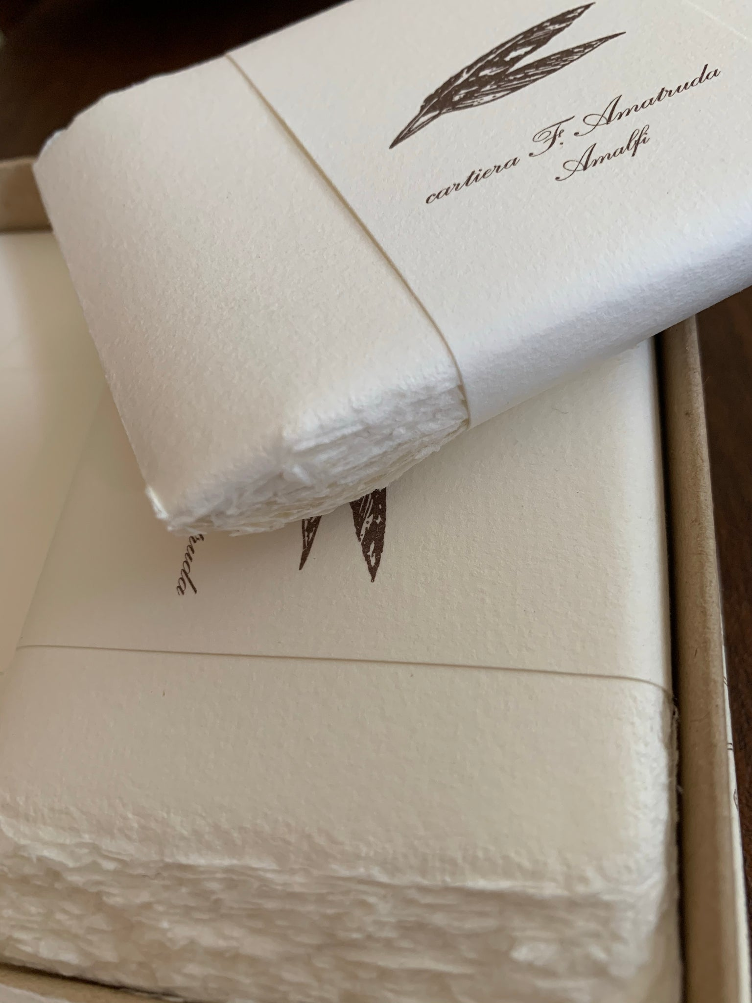 "Amalfi Box of 50 Folded Cards/Envelopes 4 1/4"" x 2 3/4"" by Amatruda"