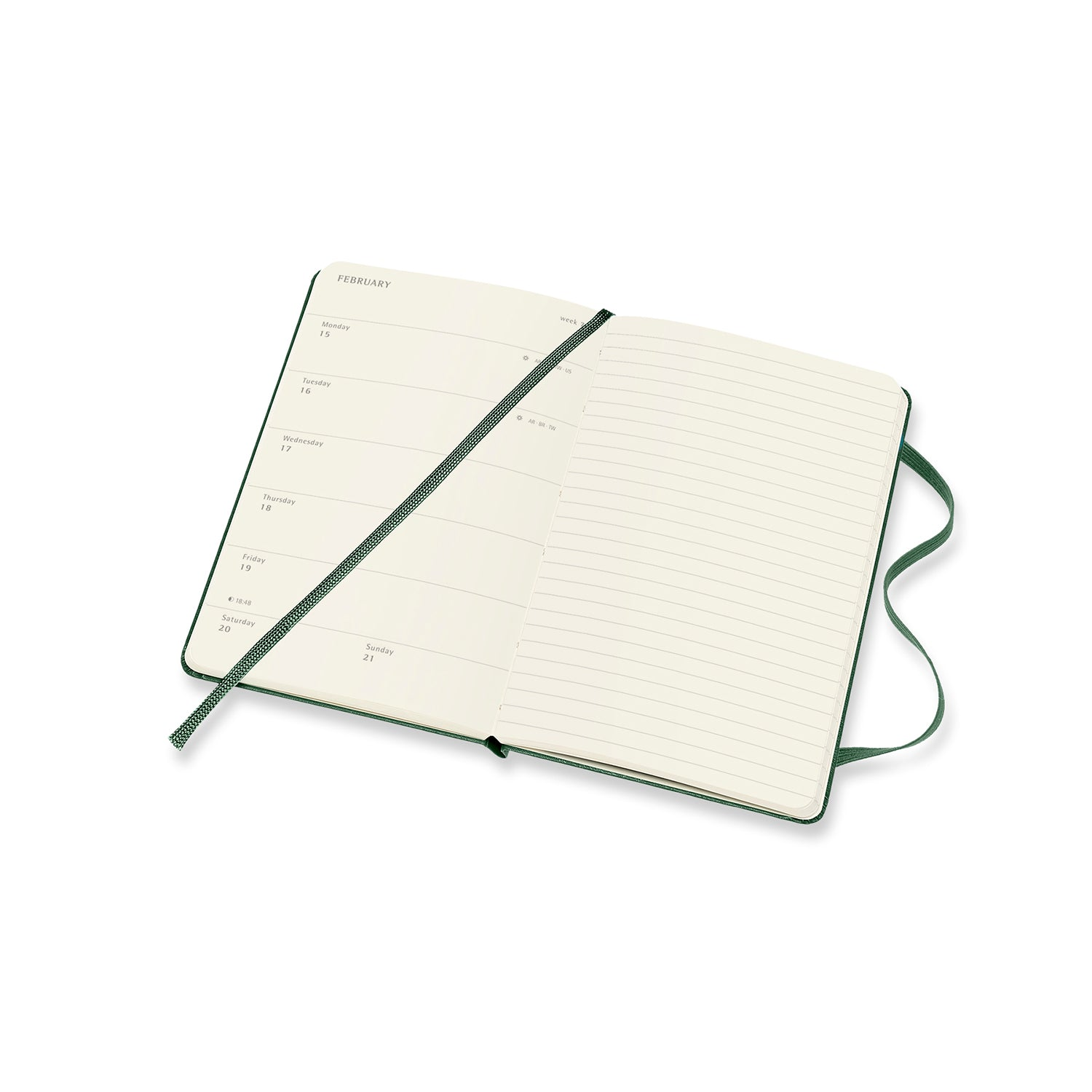 2021 Moleskine Large Weekly Notebook Diary/Planner Hardcover Myrtle Green