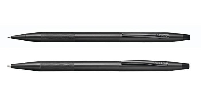 Cross Classic Century Black PVD Pen and Pencil Set with Micro-Knurl Detail