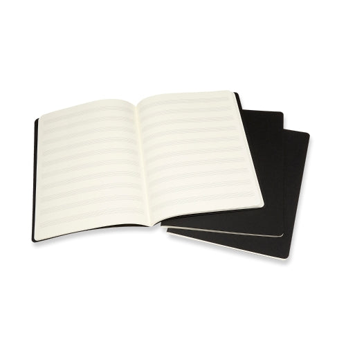 "Moleskine MUSIC ART Collection Cahiers 3pack EXTRA LARGE 7 1/2"" X 9 3/4"""