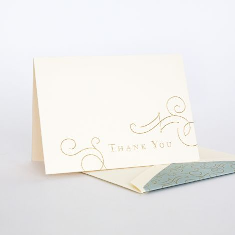 Downton Abbey Thank You Note  10 notes / 10 lined envelopes BY CRANE