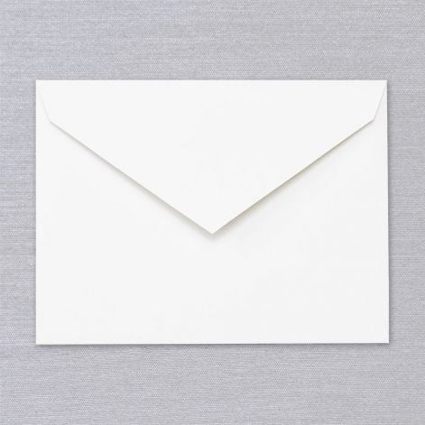 Pearl White Embassy Envelope  25 envelopes by Crane