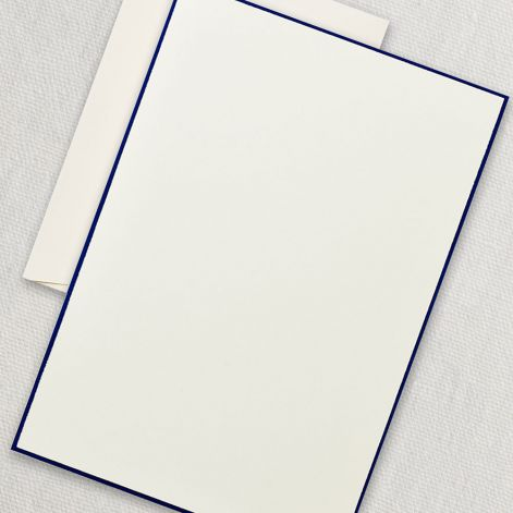Regent Blue Bordered Ecru Half Sheet  20 sheets / 20 envelopes by Crane