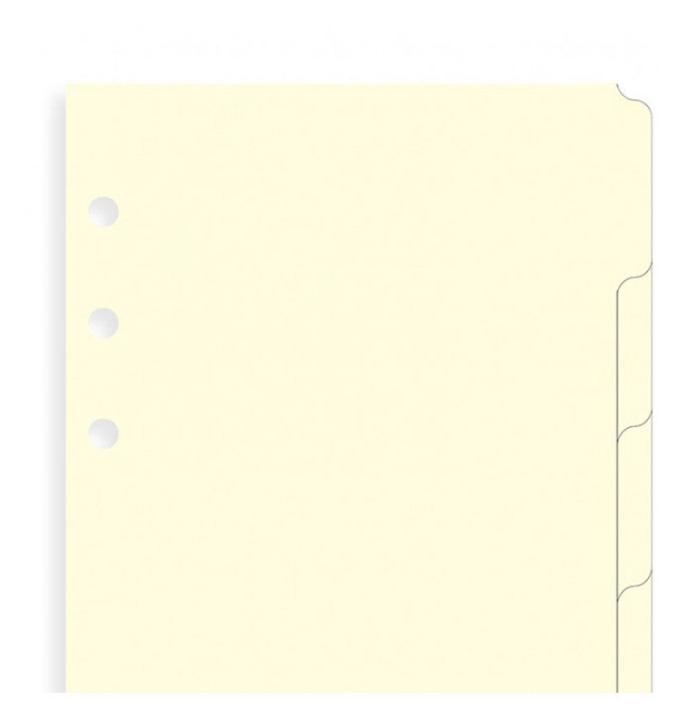 FILOFAX A5 INDEX (6 TABS) For Organizers or Clip Books
