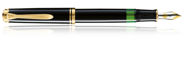 Pelikan Black M600 Fountain Pen 14k Fine Nib