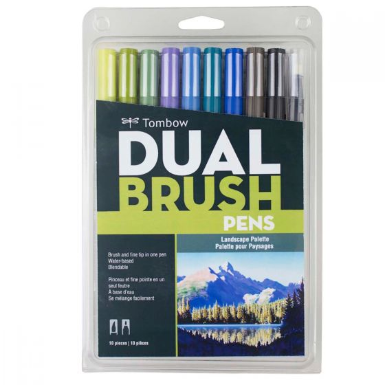 Tombow Dual Brush Pens 10 Pack Landscape