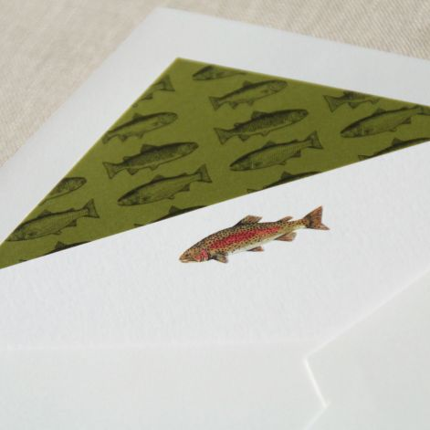 Trout Card  10 cards / 10 lined envelopes  by Crane
