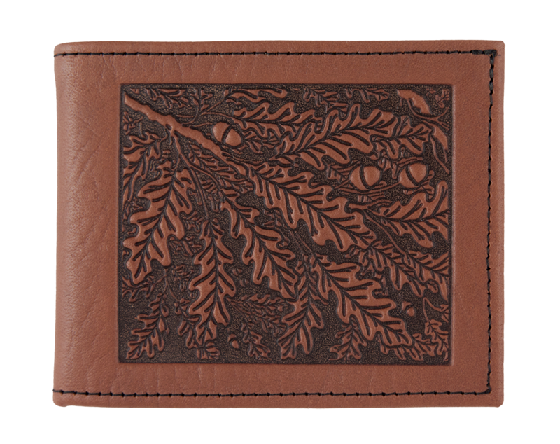 Oberon Wallet. Oak Leaves