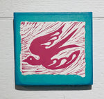Bird (Mounted Linoleum Block Print)