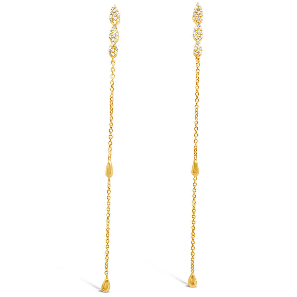 """Raindrops on Roses"" Diamond Dangle Earrings"