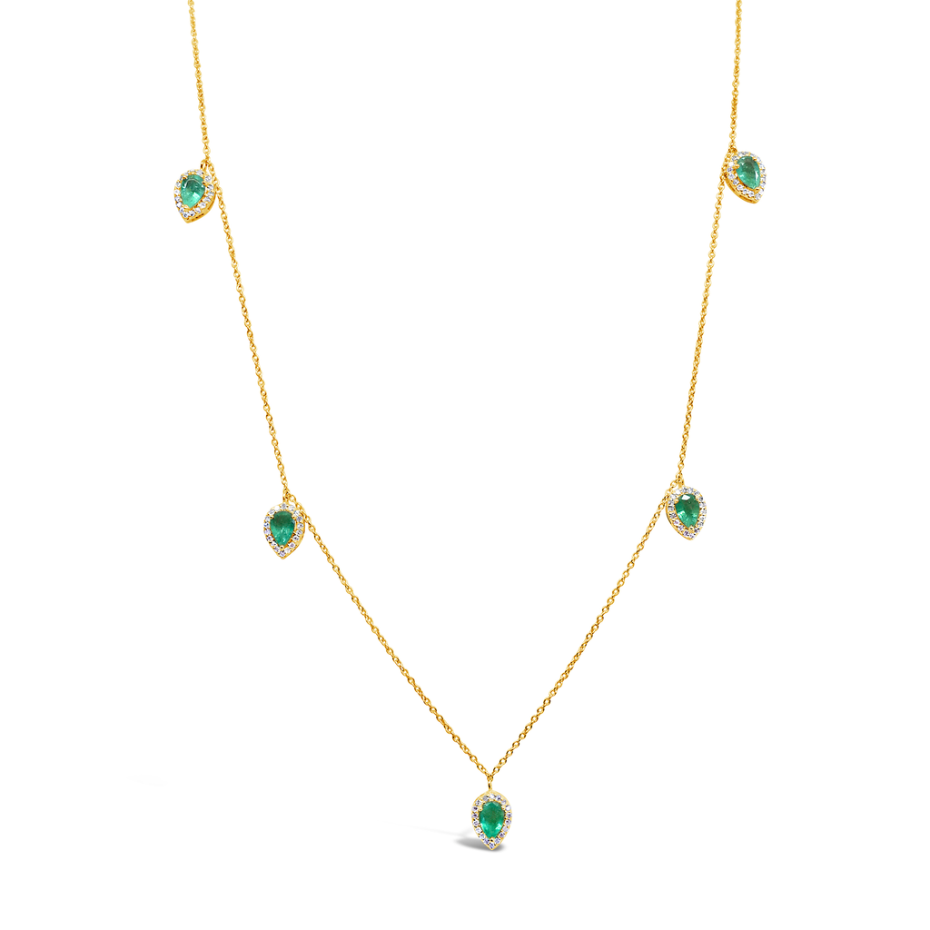 """Heart of Emerald"" Diamond Necklace"
