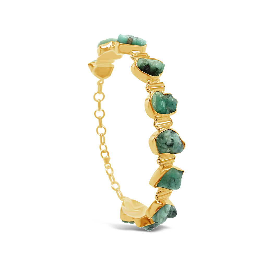 """Bountiful Nature"" Raw Emerald Bracelet"
