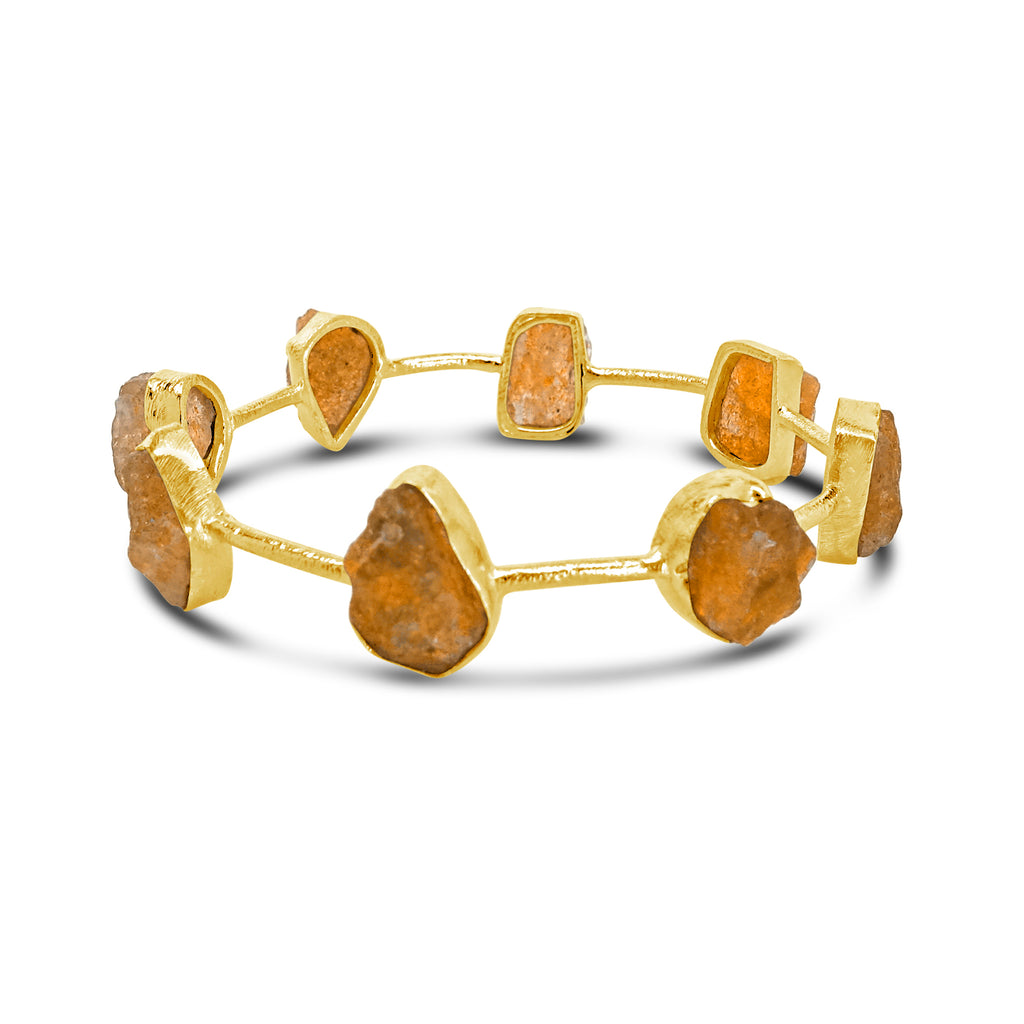 """Power of the Sun"" Sunstone Bangle Bracelet"