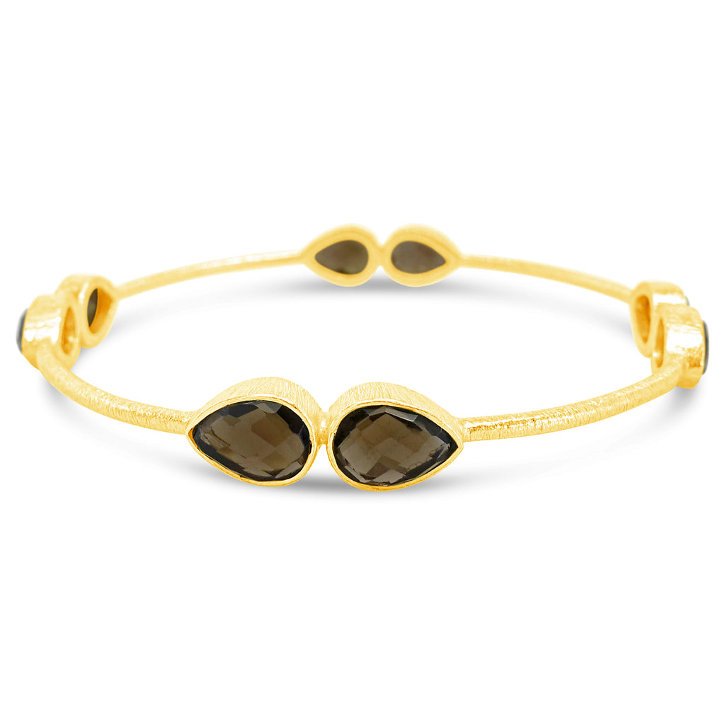 """Rebuild"" Smoky Quartz Bangle"