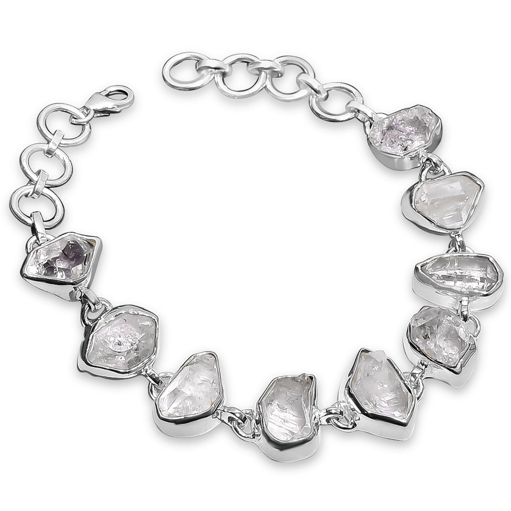 """Queen of Ice"" Herkimer Diamond Bracelet"